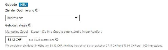 Verbessertes Auktionstool (Quelle: LinkedIn)