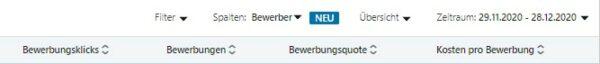 """Neue Kennzahlen zur Spalte """"Bewerber"""" (Quelle: LinkedIn)"""