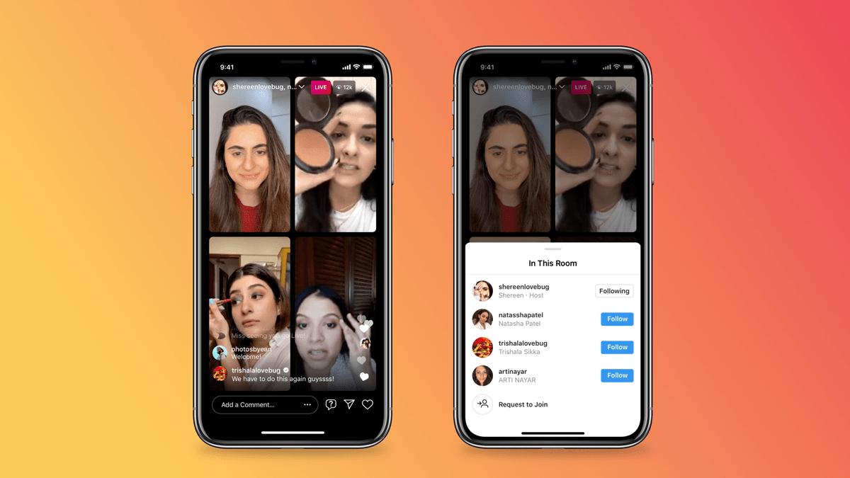 Instagram: Einführung von Live Rooms für grössere Gesprächsrunden