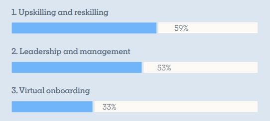Die drei Kenntnisse mit der höchsten Priorität (Quelle: Workplace Learning Report)